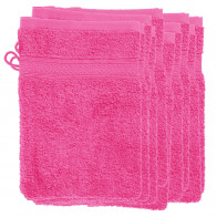 10 Waschhandschuhe 16x22cm ForMat® 500gr/m² Farbe pink