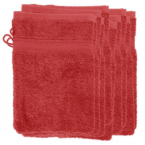 10 Waschhandschuhe 16x22cm ScharMant® 450gr/m² Farbe rot